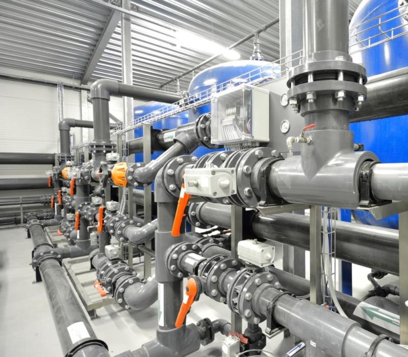 Industrial Water Pipe Plumbing